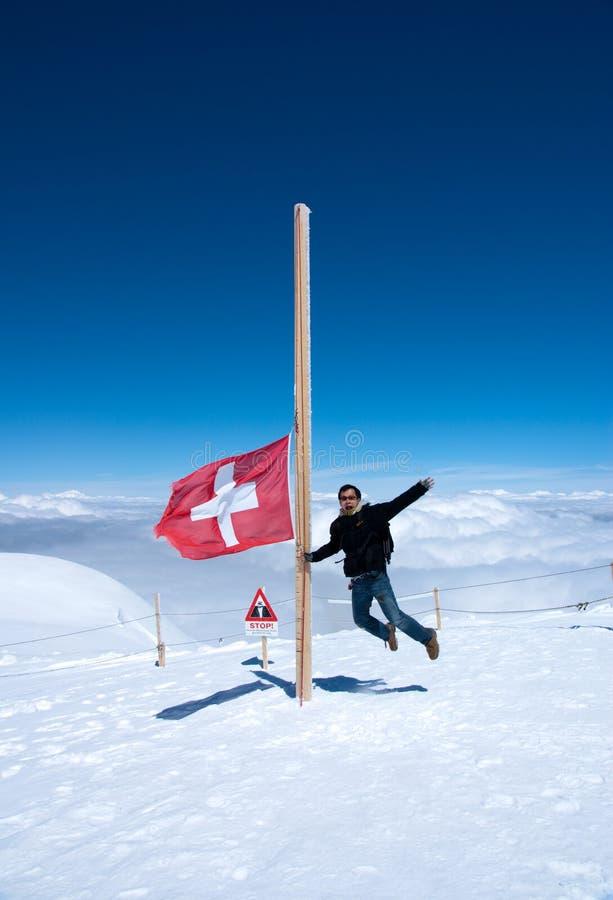 Cimeira de Mt Jungfrau - parte superior de Europa fotos de stock royalty free