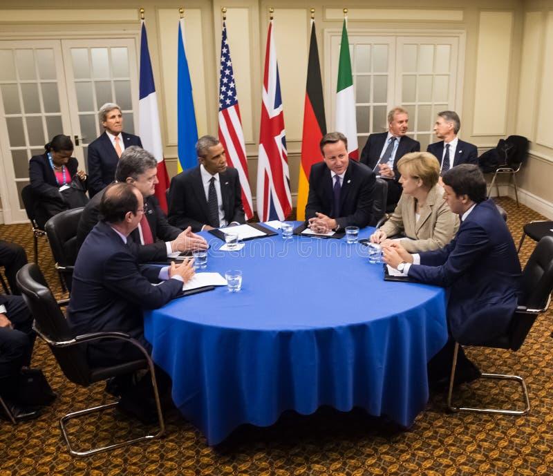 Cimeira de OTAN em Newport (Gales, Reino Unido) fotografia de stock royalty free