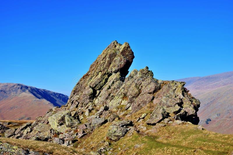 Cimeira do Crag do leme foto de stock royalty free
