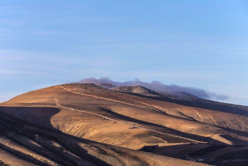 Cimeira do vulcão em Timanfaya foto de stock