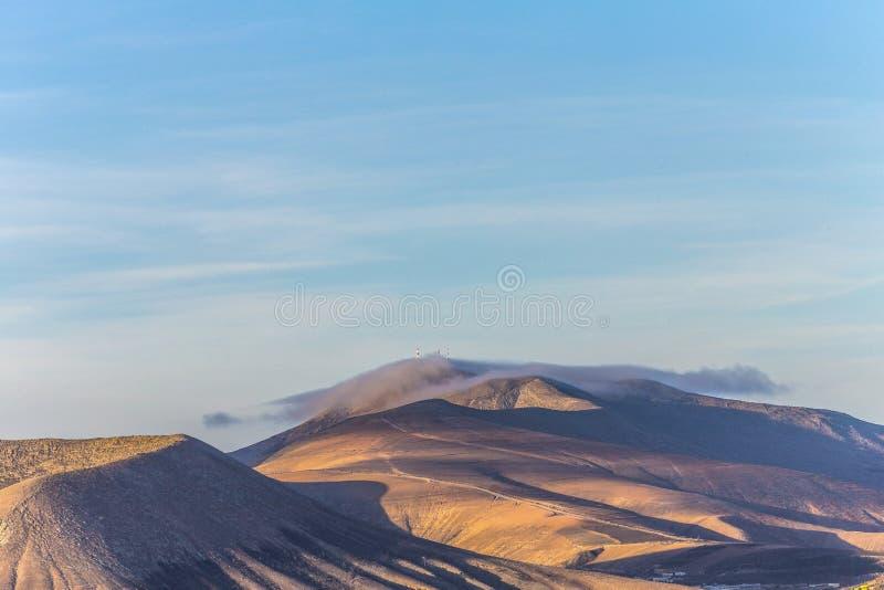 Cimeira do vulcão em Timanfaya imagens de stock royalty free