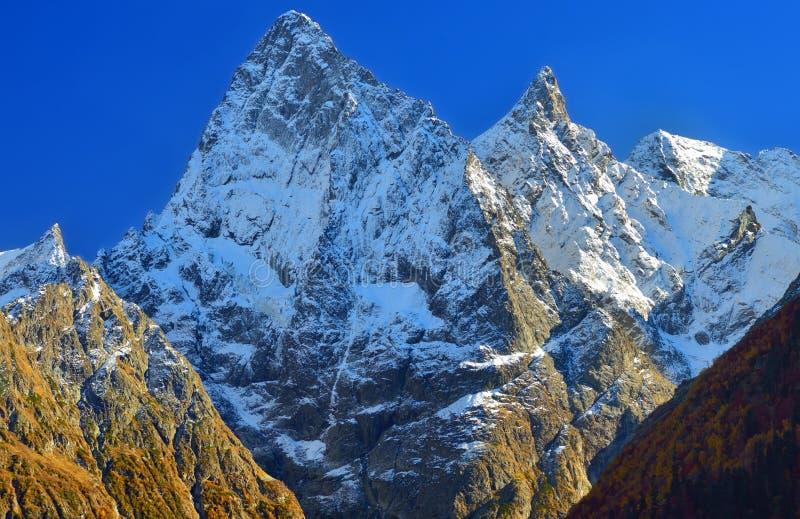 Cimeiras de Cáucaso fotos de stock royalty free