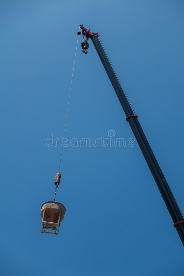 Ciment de grue photos stock