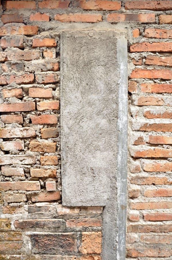 Ciment et milieux d'abrégé sur texture de mur de briques photographie stock libre de droits