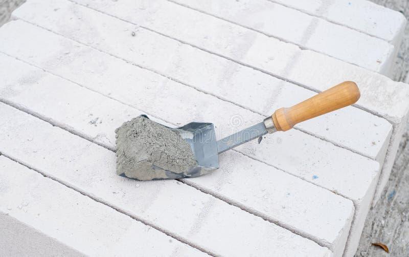 Ciment ou mortier photo stock