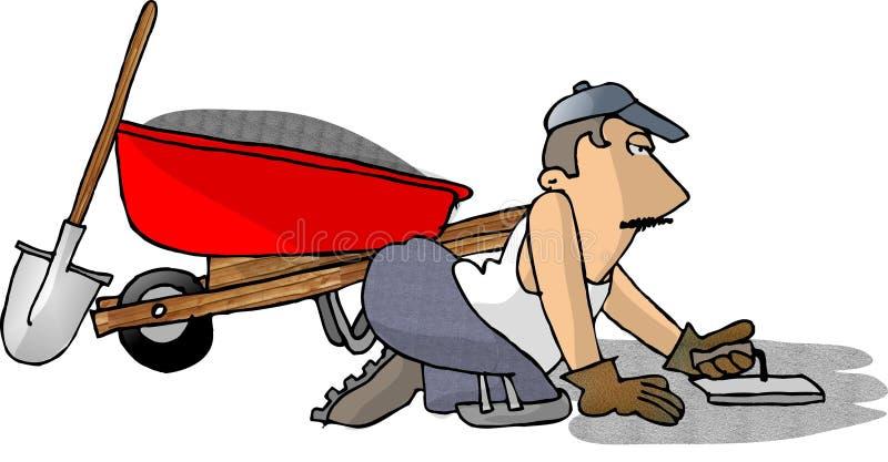 Cimente o homem ilustração stock