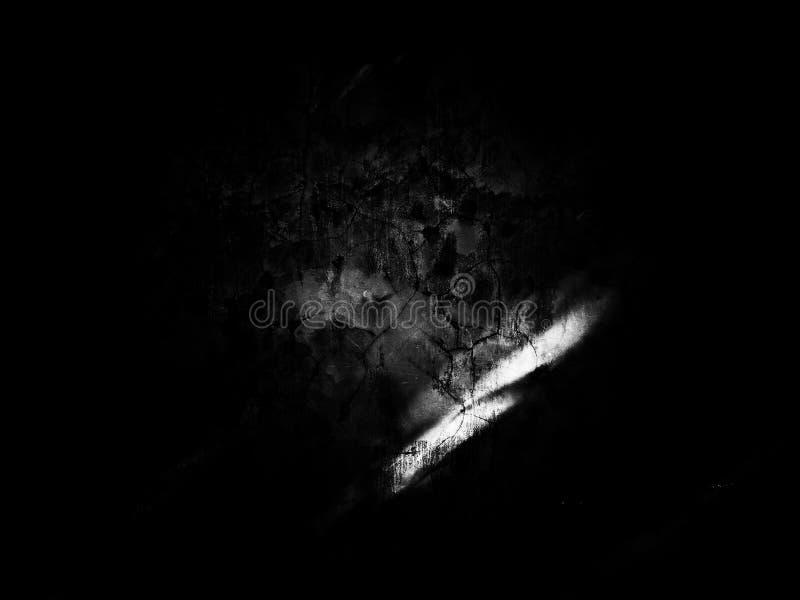 Cimentez la texture concrète sur noir et blanc image stock
