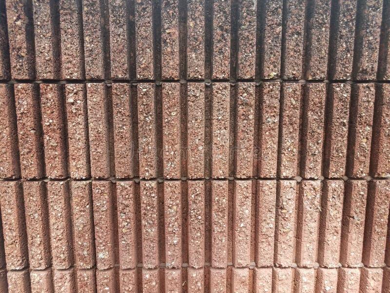 Cimento cor-de-rosa ou parede de tijolo concreta do retângulo imagens de stock