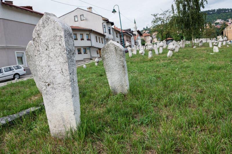 Cimetière à Sarajevo photos libres de droits