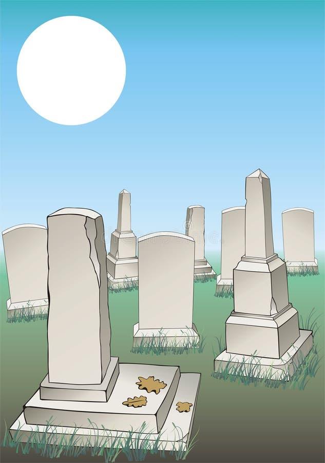 Cimetière illustration stock
