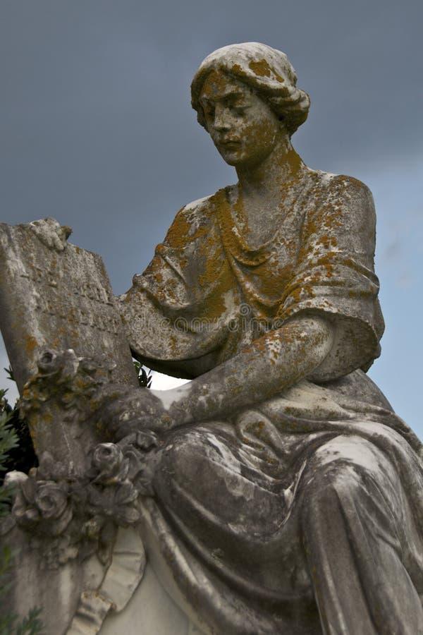 Cimetière abondant de la vie statuaire image libre de droits