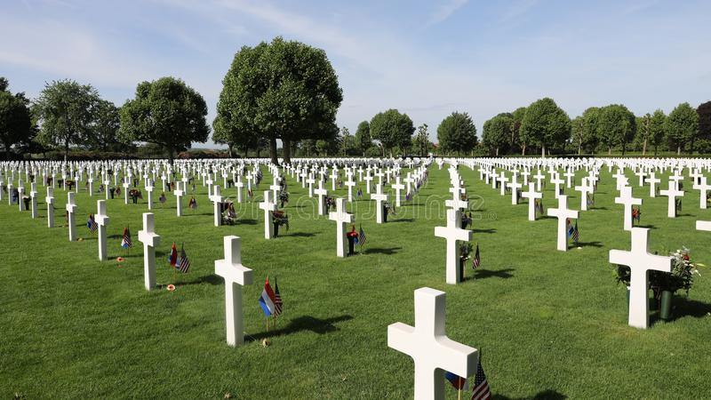 Cimetière américain de guerre chez Margraten images libres de droits