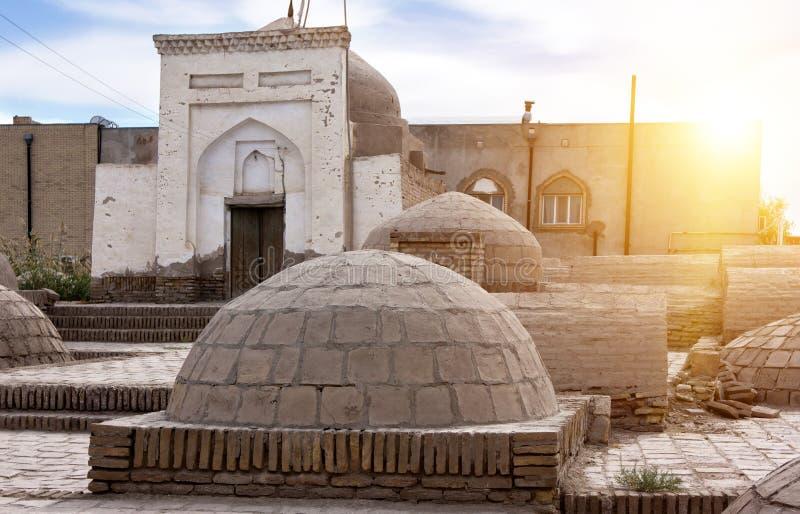 Cimetière antique dans la vieille ville Khiva uzbekistan photos libres de droits
