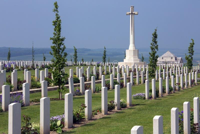 Cimetière australien de guerre - la Somme - Frances photo stock