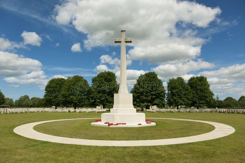 Cimetière britannique de la deuxième guerre mondiale, Bayeux photographie stock libre de droits