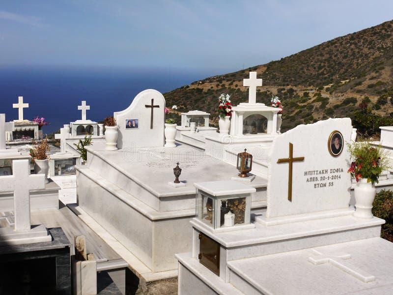 Cimetière, Crète, Grèce images libres de droits