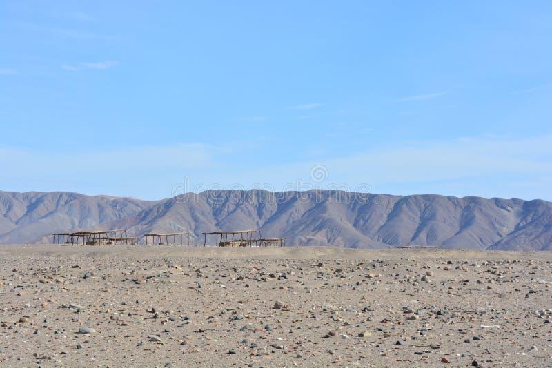 Cimetière de Chauchilla, dans le désert de Nazca, le Pérou photographie stock libre de droits