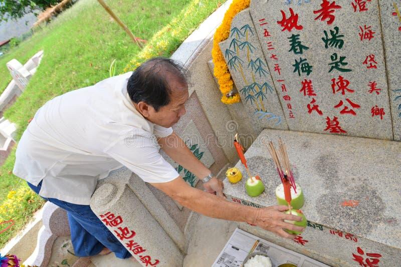 Cimetière de chinois traditionnel photo libre de droits