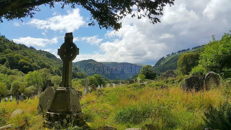 Cimetière de Glendalough images stock