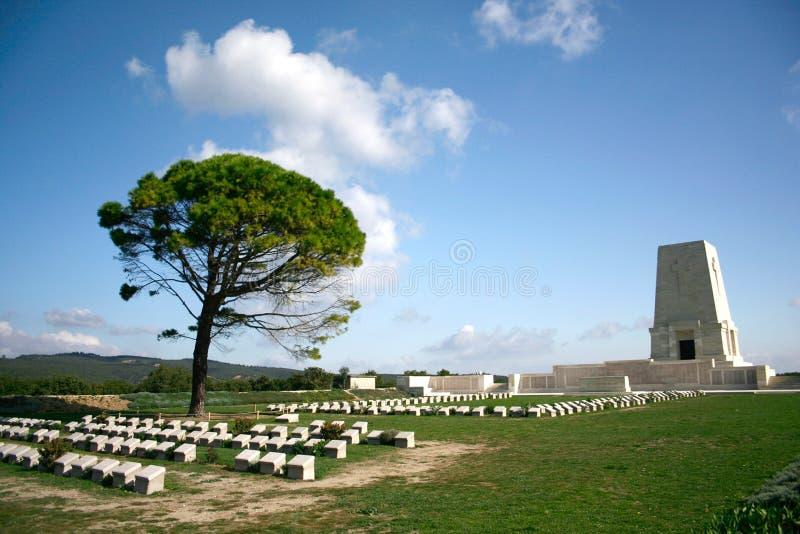 Cimetière de guerre de Canakkale photos libres de droits
