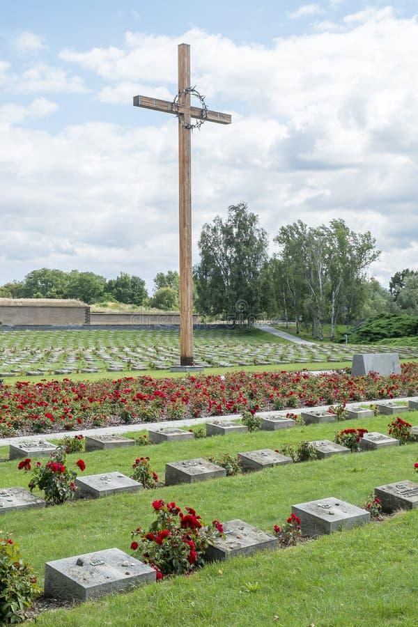 Cimetière de guerre de Terezin photos libres de droits