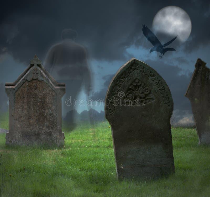 Cimetière de Halloween images stock