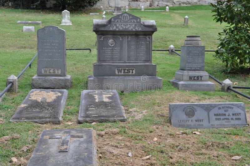 Cimetière de Hollywood à Richmond, la Virginie photos libres de droits