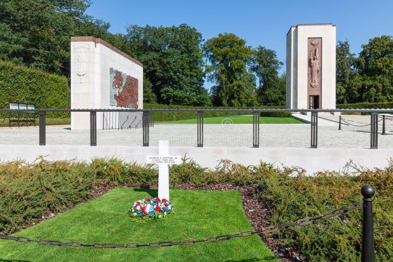 Cimetière de l'Américain WW2 avec le Général grave Patton au Luxembourg photo libre de droits