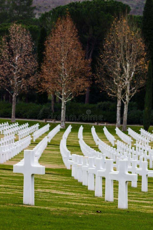 Cimetière de la deuxième guerre mondiale d'Américain photos libres de droits