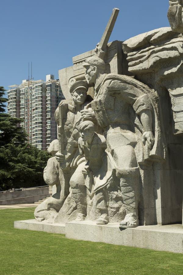 Cimetière de Longhua des martyres révolutionnaires à Changhaï, Chine photographie stock libre de droits