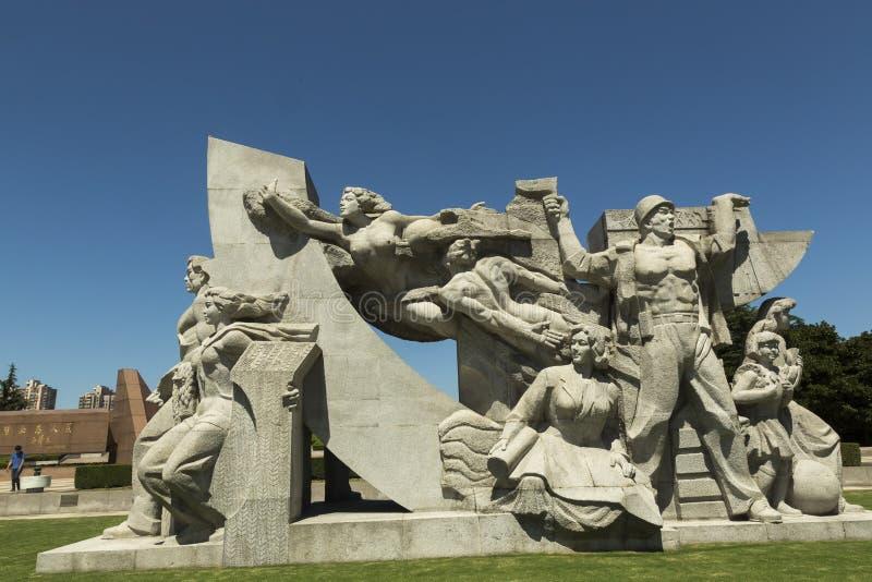 Cimetière de Longhua des martyres révolutionnaires à Changhaï, Chine images stock