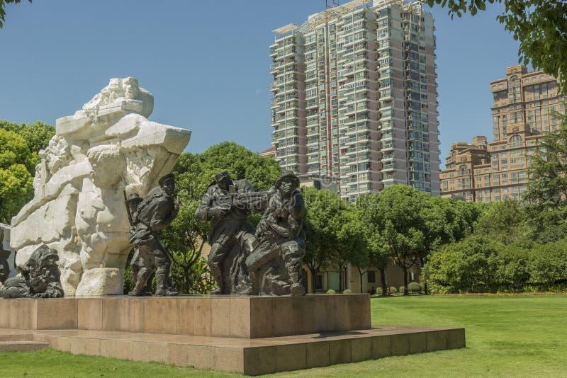Cimetière de Longhua des martyres révolutionnaires à Changhaï, Chine images libres de droits