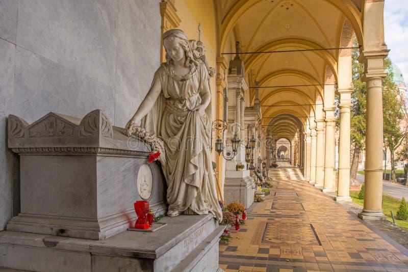 Cimetière de Mirogoj à Zagreb image libre de droits