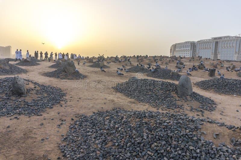 Cimetière de musulmans de Baqee photos libres de droits