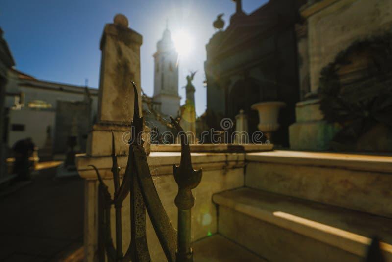 Cimetière de Recolet dans les villes de Buenos Aires L'endroit d'enterrement de beaucoup d'Argentin célèbres Quelques enterrement photographie stock libre de droits