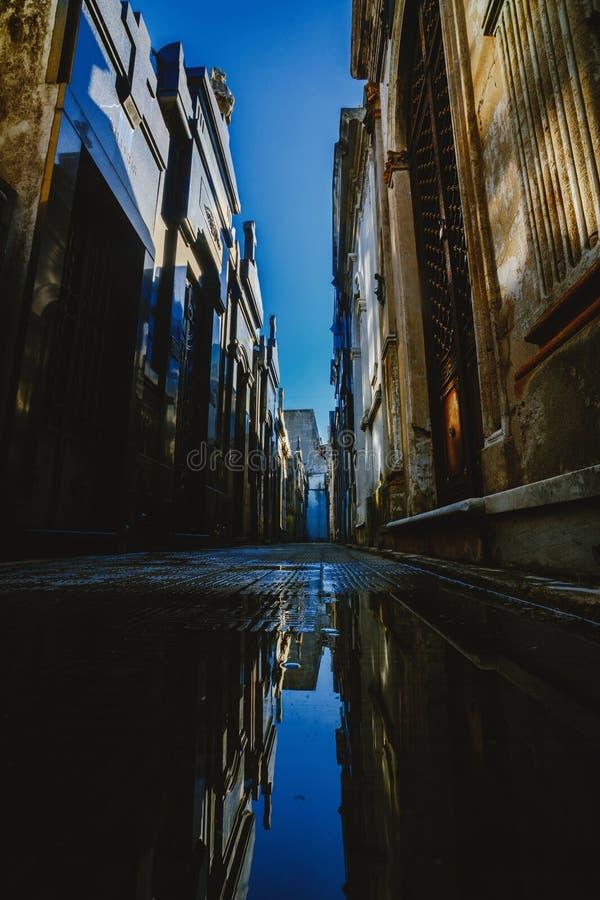 Cimetière de Recolet dans les villes de Buenos Aires L'endroit d'enterrement de beaucoup d'Argentin célèbres Quelques enterrement images libres de droits