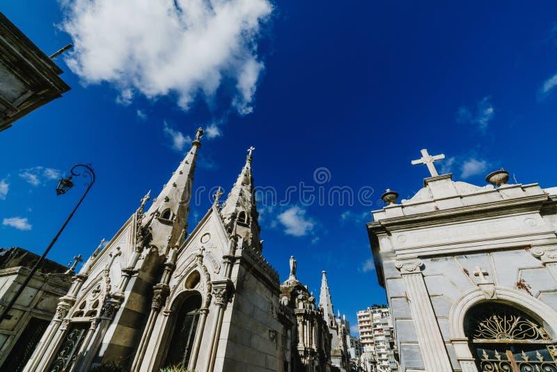 Cimetière de Recolet dans les villes de Buenos Aires L'endroit d'enterrement de beaucoup d'Argentin célèbres Quelques enterrement image libre de droits