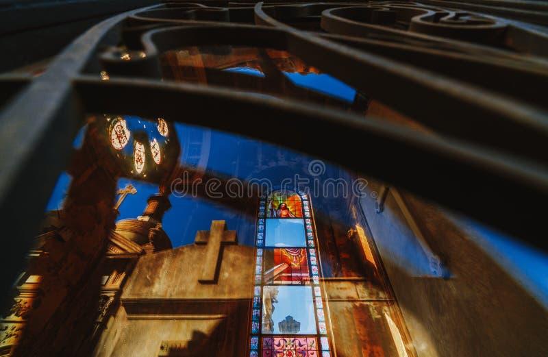 Cimetière de Recolet dans les villes de Buenos Aires L'endroit d'enterrement de beaucoup d'Argentin célèbres Quelques enterrement photographie stock