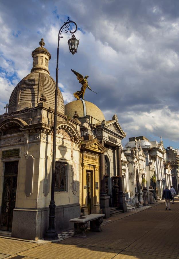 Cimetière de Recoleta à Buenos Aires photo stock