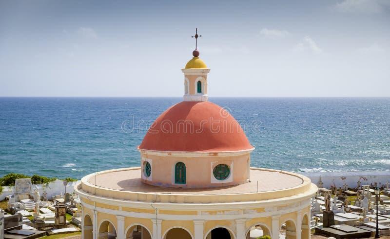 Cimetière de Santa Maria Magdalena de Pazzis à vieux San Juan, Puerto image stock