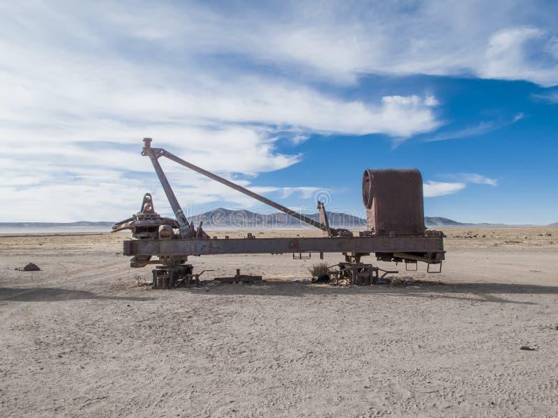Cimetière de train en Bolivie photos stock