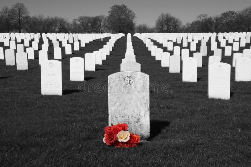 Cimetière de vétérans, Jour du Souvenir, vacances nationales photographie stock libre de droits