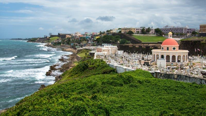 Cimetière de vieux San Juan, Porto Rico image libre de droits