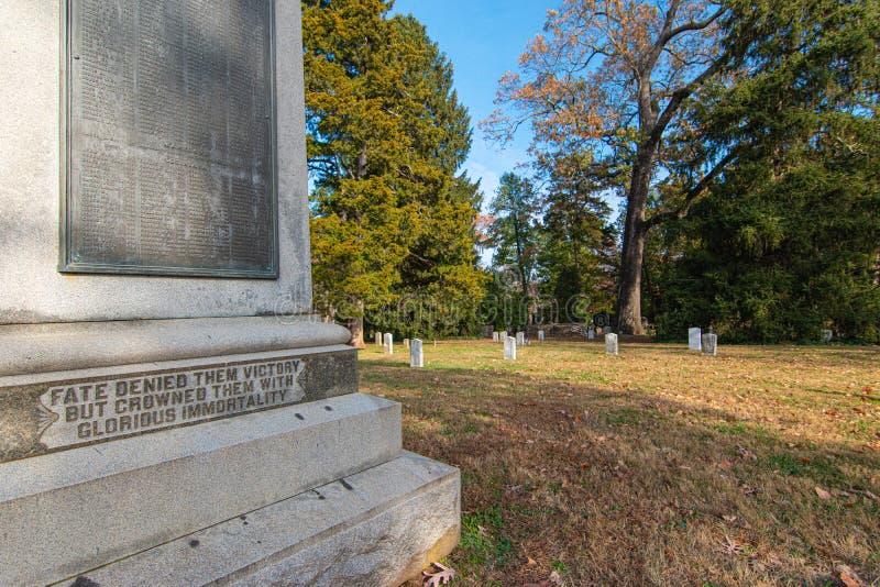 Cimetière fédéral de l'université de Virginie images libres de droits