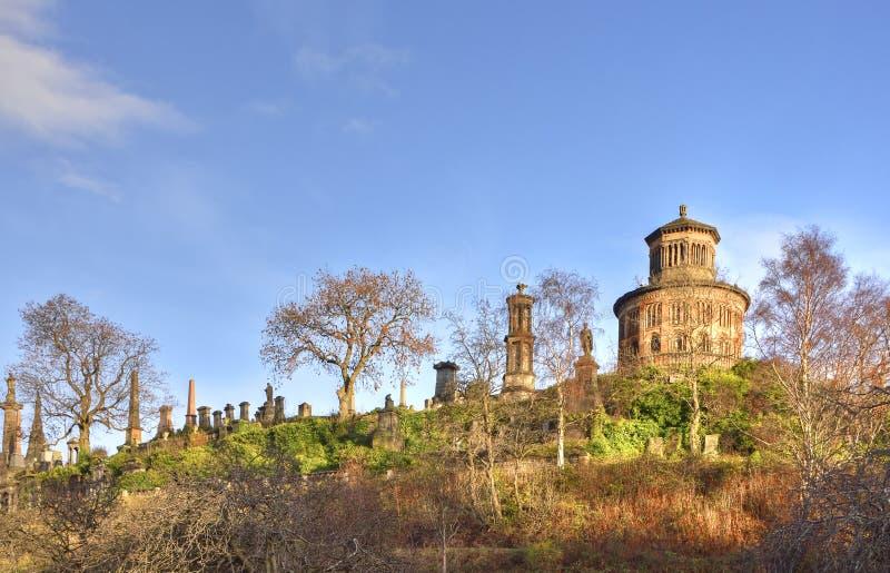 Cimetière historique de ville écossaise photos libres de droits
