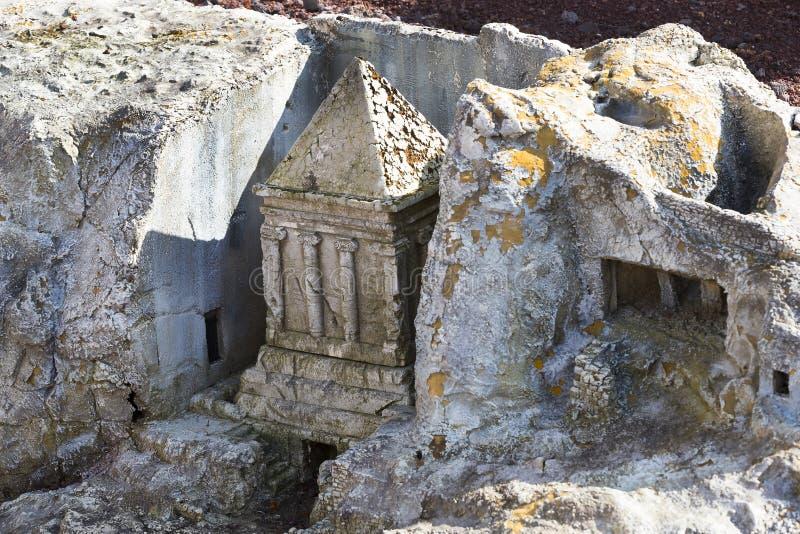 Cimetière juif antique à Jérusalem sur le mont des Oliviers photo libre de droits