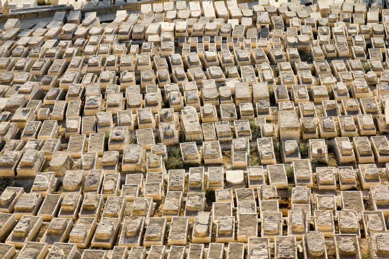 Cimetière juif antique sur le support des olives photographie stock libre de droits