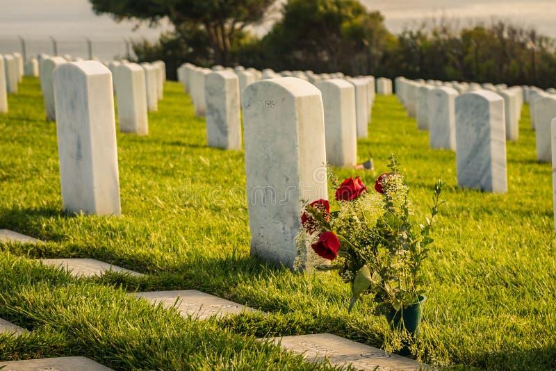 Cimetière militaire de Rosecrans photos stock