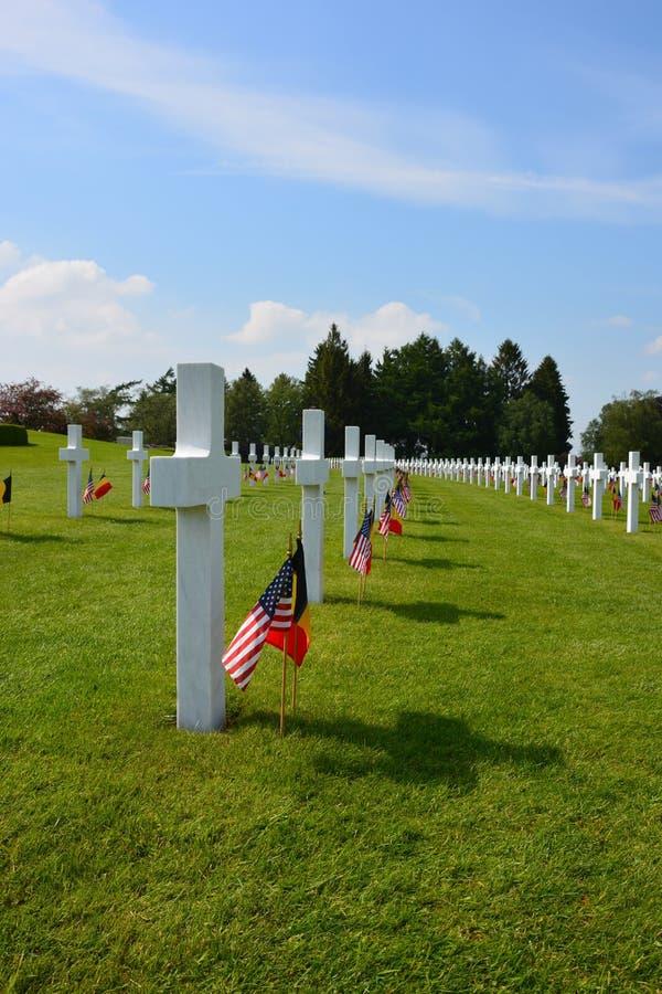 Cimetière militaire Henri-Chapelle Belgium de Memorial Day photos libres de droits