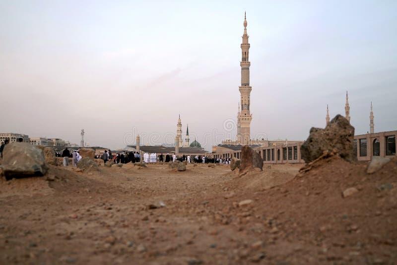 Cimetière musulman à la mosquée de Nabawi dans Madinah photos libres de droits